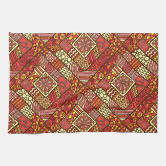Red abstract tribal aztec pattern towel