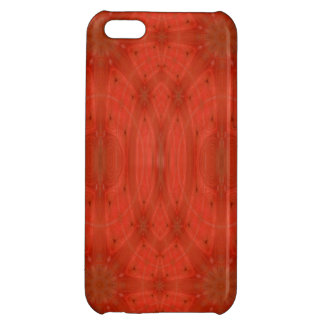 Red abstract wood case for iPhone 5C
