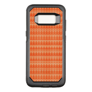 Red abstract zigzag textile pattern OtterBox commuter samsung galaxy s8 case