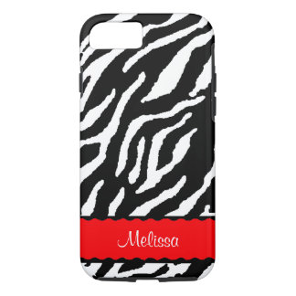 Red Accent With White And Black Tiger iPhone 8/7 Case