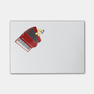 Red accordion custom design post-it® notes