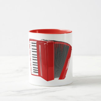 RED ACCORDION MUG