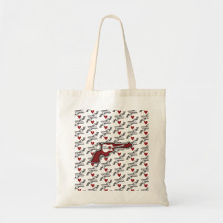 Red Acoustic Pistol Tot Tote Bag