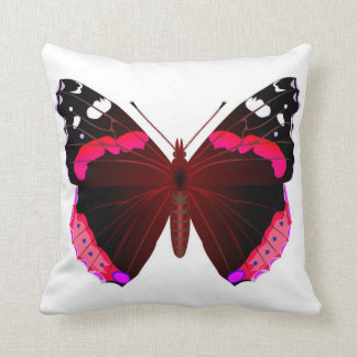 Red admiral butterfly cushion
