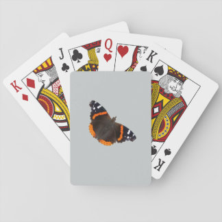 Red Admiral butterfly design playing cards