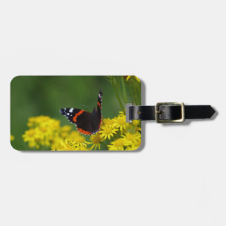Red Admiral Butterfly Luggage Tag
