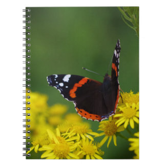 Red Admiral Butterfly Notebook