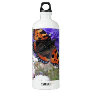 Red Admiral Butterfly Water Bottle