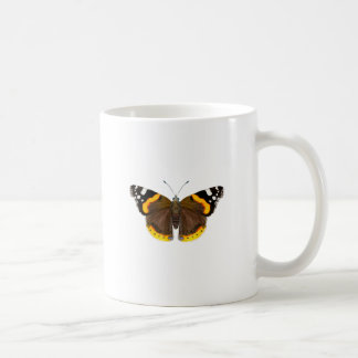 Red Admiral Butterfly Watercolor Painting Artwork Coffee Mug