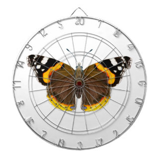 Red Admiral Butterfly Watercolor Painting Artwork Dartboard