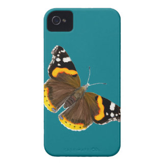 Red Admiral Butterfly Watercolor Painting Artwork iPhone 4 Cases