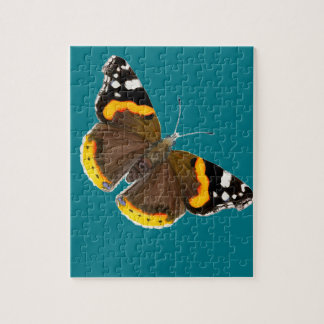 Red Admiral Butterfly Watercolor Painting Artwork Jigsaw Puzzle