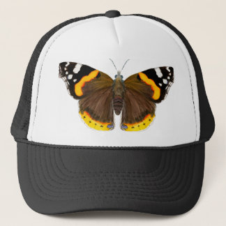 Red Admiral Butterfly Watercolor Painting Artwork Trucker Hat