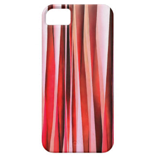 Red Adventure Striped Abstract Pattern Case For The iPhone 5