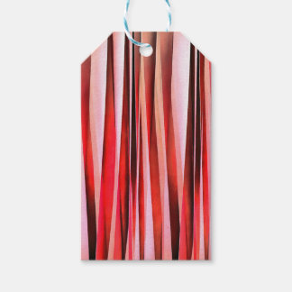 Red Adventure Striped Abstract Pattern Gift Tags