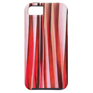Red Adventure Striped Abstract Pattern iPhone 5 Case