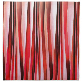 Red Adventure Striped Abstract Pattern Napkin