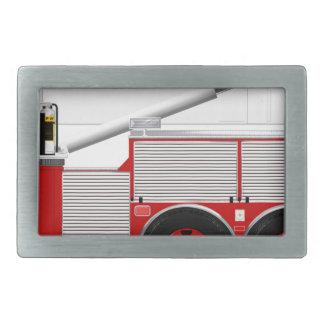 Red Aerial Scope Custom Fire Truck Design Rectangular Belt Buckles