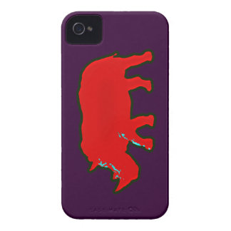 red africa rhinocerus iPhone 4 covers