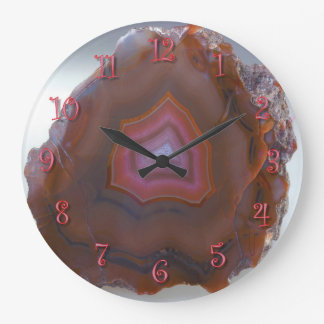 Red Agate Large Clock