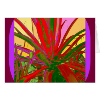 Red Agave Southwest Desert Design Gifts by Sharles Card