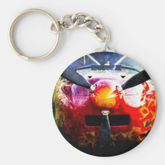 Red Aircraft - Small But Fierce Basic Round Button Key Ring