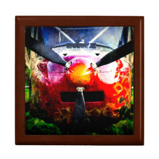Red Aircraft - Small But Fierce Large Square Gift Box