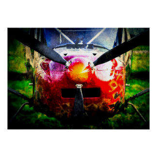 Red Aircraft - Small But Fierce Poster