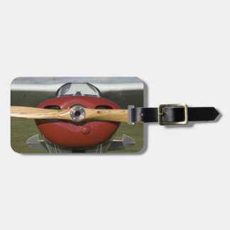 Red Airplane and Propeller Luggage Tag