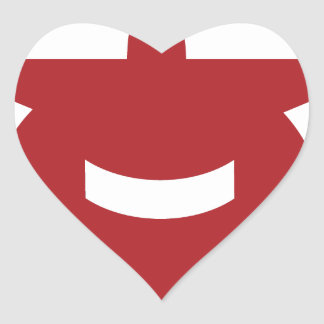 Red Airplane Front View Icon Heart Sticker