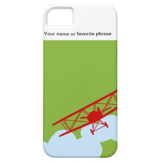 Red airplane on plain lime green. iPhone 5 covers