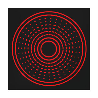 Red Alarm Abstract Spinning Gamma Led Light Canvas Stretched Canvas Print