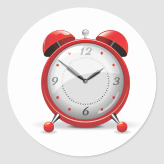 Red Alarm Clock Stickers