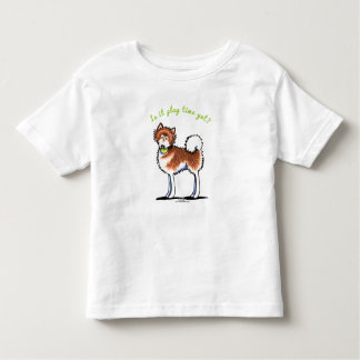 Red Alaskan Malamute Playtime Toddler T-Shirt