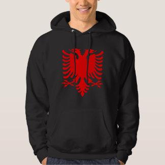 Red Albanian Eagle Hoodie