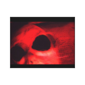 Red Alien Canvas Print