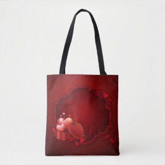 Red All-Over-Print Tote Bag, Medium
