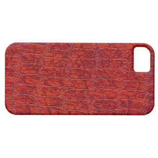 Red Alligator Print Case-Mate iPhone 5