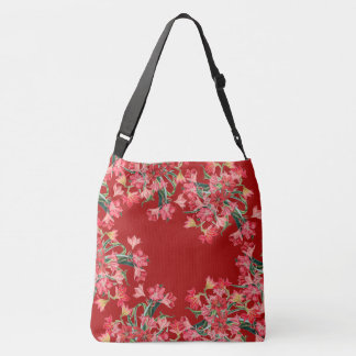 Red Amarylis Flowers Floral Shoulder Tote Bag