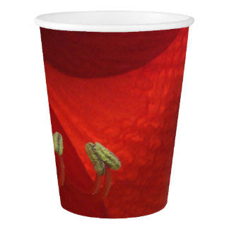 Red Amaryllis Christmas Party Paper Cups