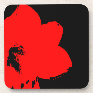 red amaryllis coaster