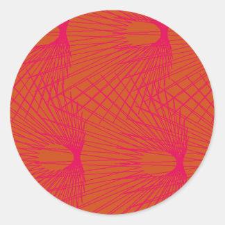 red amazon flower forest round sticker