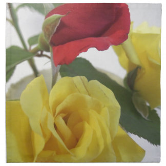 Red amd Yellow Roses Printed Napkin
