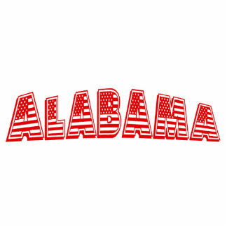 Red American Flag Alabama Photo Sculptures