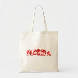 Red American Flag Florida Budget Tote Bag