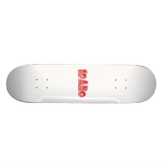 Red American Flag Idaho Custom Skate Board