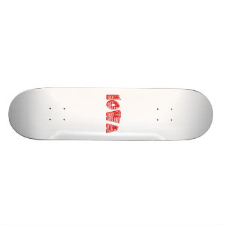 Red American Flag Iowa Skate Boards