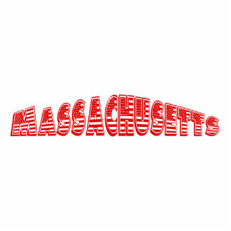 Red American Flag Massachusetts Photo Cut Outs