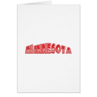 Red American Flag Minnesota Note Card