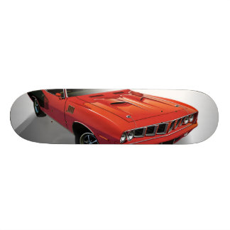 Red American muscle car Skateboard Deck